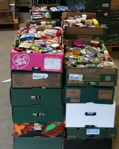 Food collection from local schools